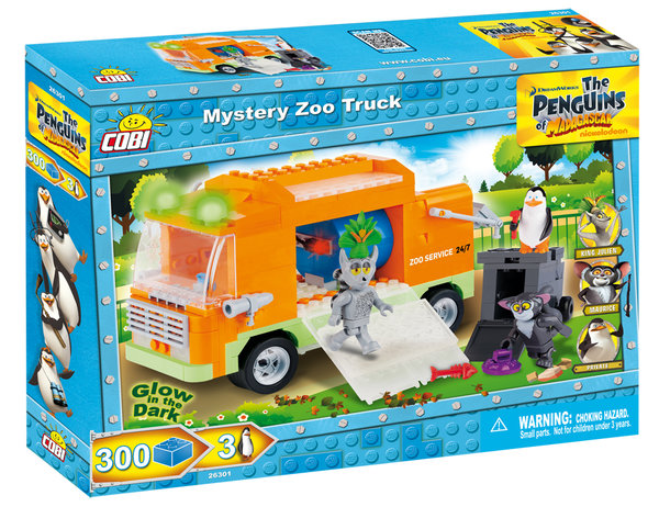 Cobi 26301 | The Penguins of Madagascar | Mystery Zoo Truck