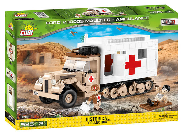 Cobi 2518 | Ford V3000S Maultier - Ambulance  | Historical Collection