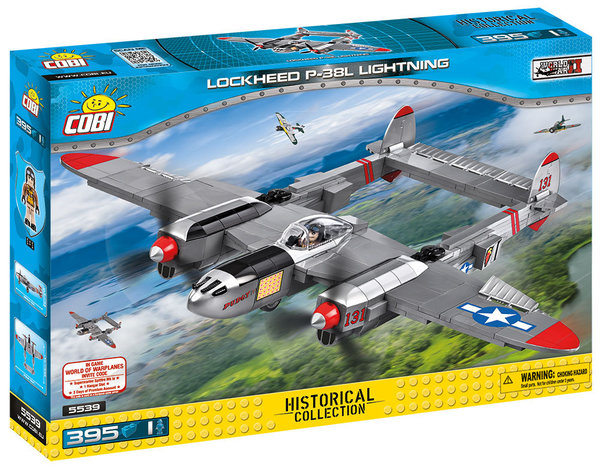 Cobi 5539 | Lockheed P-38L Lightning | Historical Collection