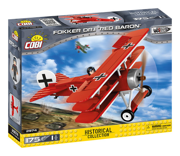 "Cobi 2974 | Fokker Dr.I ""Red Baron"" 