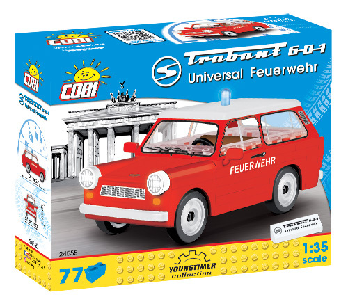 Cobi 24555 | Trabant 601 Universal Feuerwehr | Youngtimer Collection