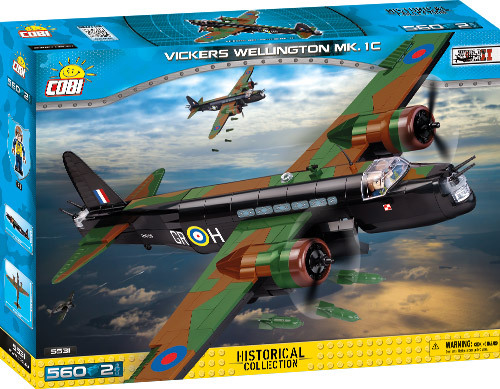 Cobi 5531 | Vickers Wellington Mk.1C | Historical Collection