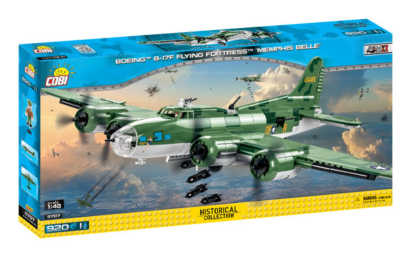 Cobi 5707 | Boeing™ B-17F Flying Fortress™ 'Memphis Belle' | Historical Collection
