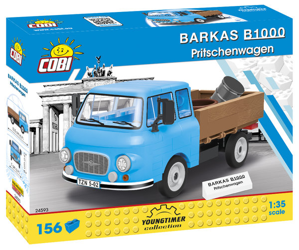 Cobi 24593 | Barkas B1000 Pritschenwagen | Youngtimer Collection