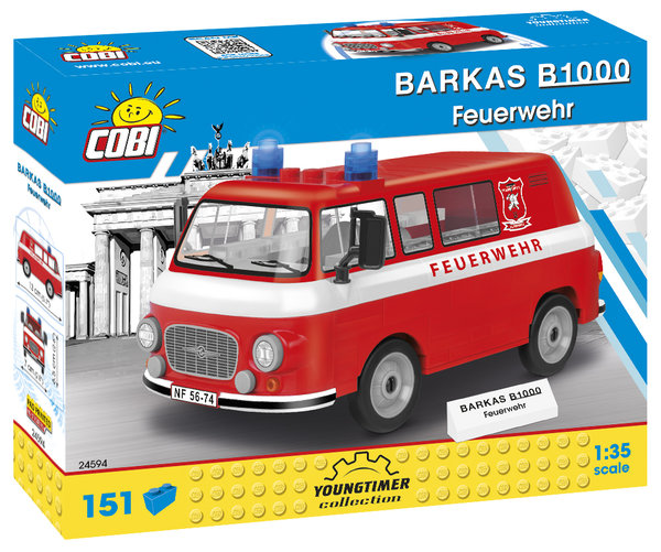 Cobi 24594 | Barkas B1000 Feuerwehr | Youngtimer Collection