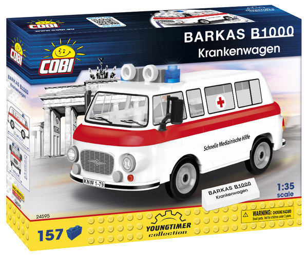 Cobi 24595 | Barkas B1000 Krankenwagen | Youngtimer Collection
