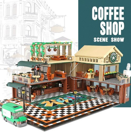 Sembo 601093 | Coffee Shop mit LED-Beleuchtung (ohne Figuren!)